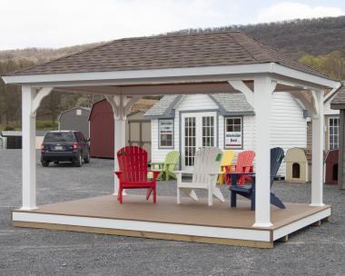 10x14 Vinyl Pavilion with floor from Pine Creek Structures of Hegins