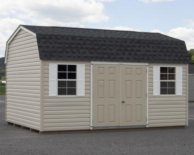 12x16 Dutch Barn Style Storage Shed with Vinyl Siding from Pine Creek Structures