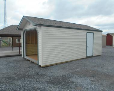 Pine Creek Structures 12 x 22 vinyl garage 41970