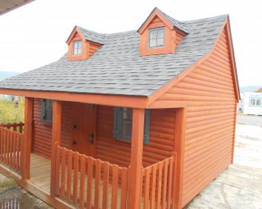 Pine Creek Structures log sided Bear playhouse 26199